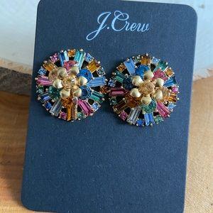 🔥 NWT JCrew Ornate Multicolor Studs